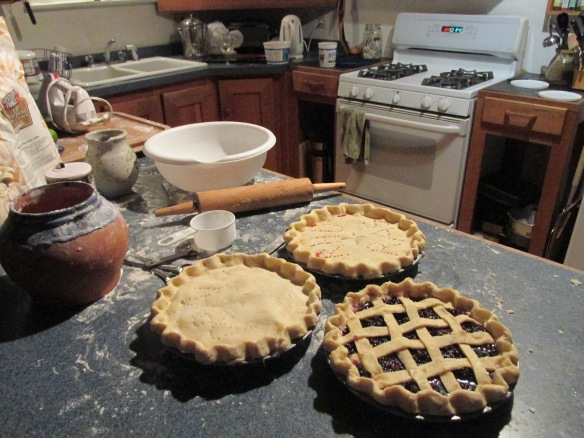 Blackberry lattice, Strawberry-Apricot, and...oh shoot, what's that other one?