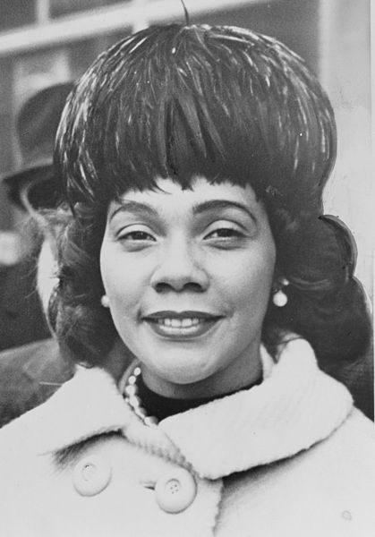 Coretta in 1964 (Courtesy Wikimedia)
