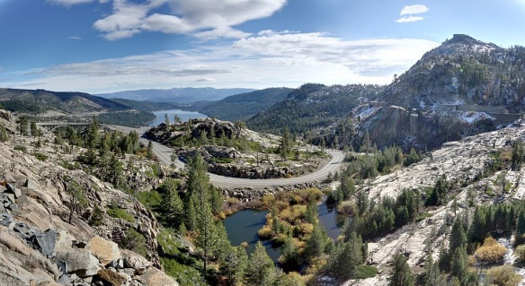 Donner Pass--where's the snow?? (Courtesy wikimedia)
