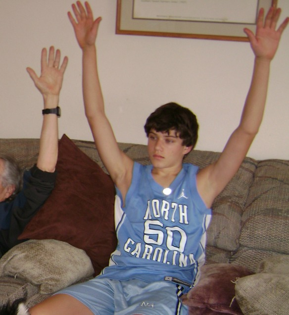 Son Two joined the Tarheel Tribe at an arly age.