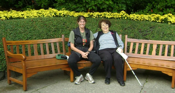 Cousin Susi and I visiting Butchart Gardens in 2011