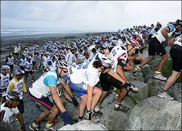 Like...how do they keep from breaking their ankles in the first kilometer? (courtesy coasttocoast.co.nz)