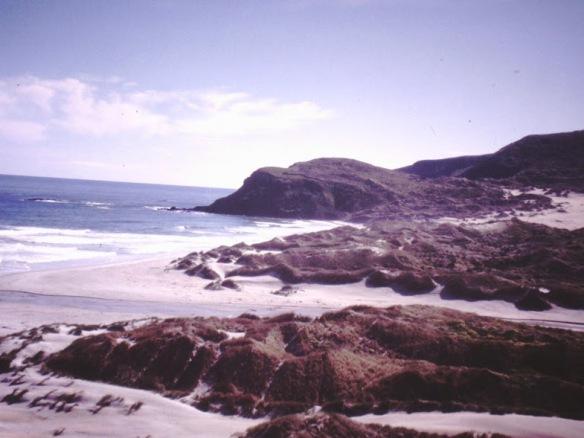 ...across beaches...