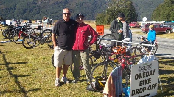 Pete & I at the second Transition Area