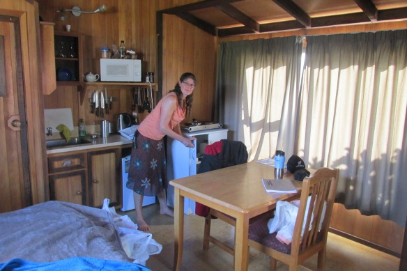 This adorable cabin in Okarito was exactly what we needed after four days of tramping.